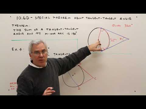 10.6D--Special Theorem About Tangent-Tangent Angle