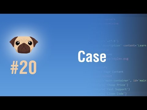 Learn Pugjs in Arabic #20 - Case And Some Tests