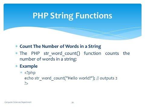 PHP-STRING FUNCTIONS WITH EXAMPLE