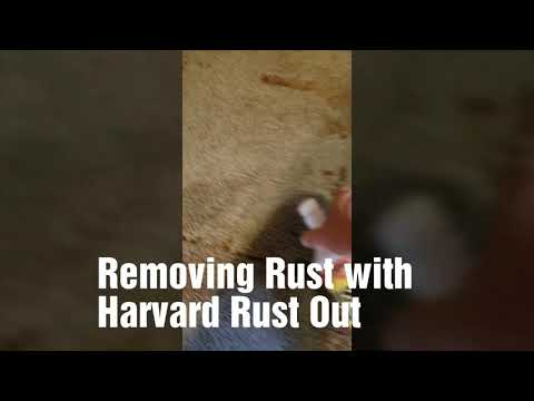 How to Remove Rust stains with Saiger's Spotting Kit and Harvard Rust Out