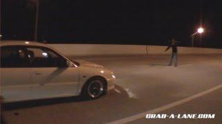 evo ii vs nxsgt mustang dig on the street  race