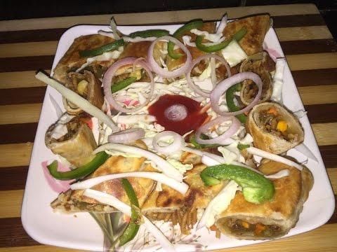 Spring roll recipe in hindi - Non fried - Breakfast & tea time snack recipe