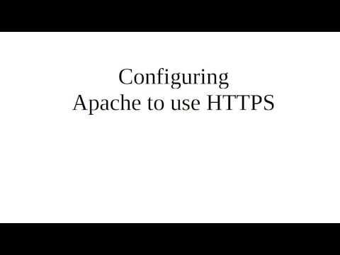 Configuring Apache to use SSL