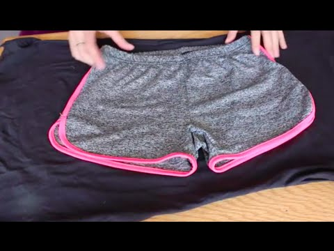 How to Make Cute Athletic Shorts from a T Shirt! Upcycling DIY Fashion on a Budget Clothing Hack!