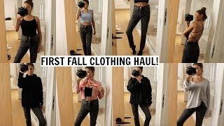 MY FIRST FALL CLOTHING HAUL (try on)