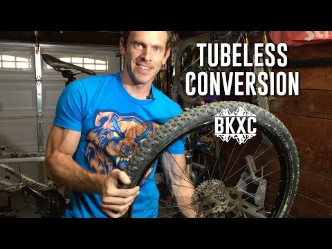 Specialized Stumpjumper MTB tubeless tire conversion