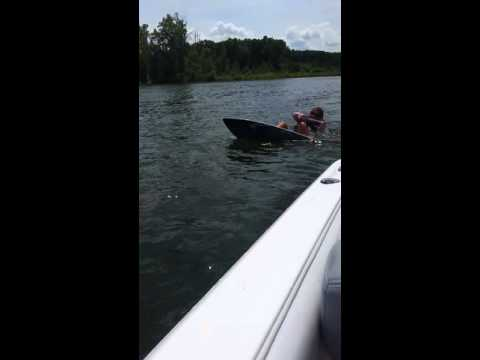 Jennifer. How to get up on a Wakesurf Board