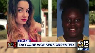 Three Chandler daycare workers in custody after disturbing video