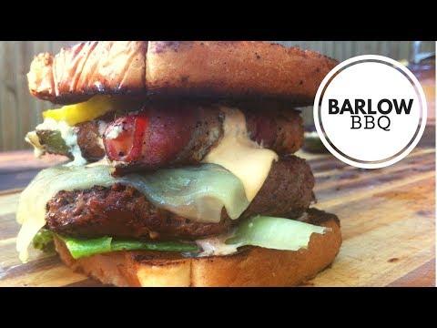 The Alamo Burger Recipe   Cast Iron Skillet Burger