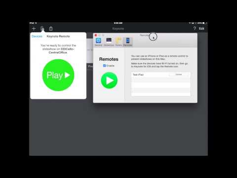 Using Keynote on your iPad to control a presentation on your Mac