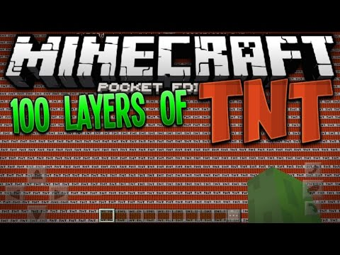 100 LAYERS OF TNT!!! - MCPE 100 Layers Challenge - Minecraft PE (Pocket Edition)