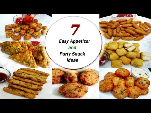 7 Easy Appetizer and Party Snack Ideas || Instant & Quick Snack recipes