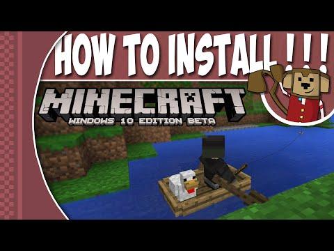 How To Install Minecraft Windows 10 Edition: Beta ! ! !