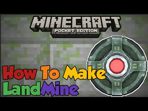 Minecraft PE | How To Make a Working Landmine! | Command Block creation