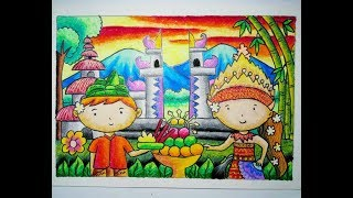 Tutorial Mewarnai Gajah Dengan Crayon 5 How To Color With Oil Pastels