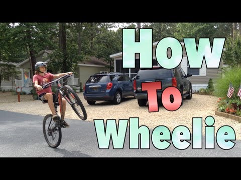 How To Wheelie A Mountain Bike - Easiest Way - GoPro