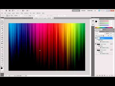 Create a multi-color/ rainbow color background in Adobe Photoshop