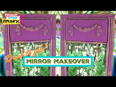 Mirror Makeover From Drab to FAB!