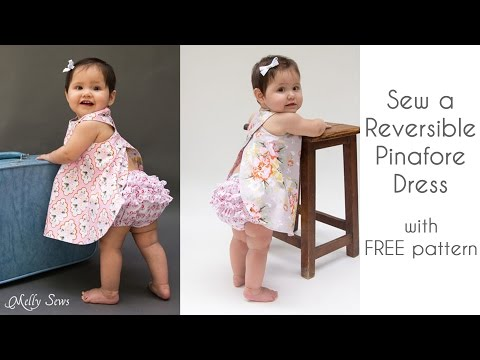 How to Sew a Criss Cross Pinafore Baby Girl Dress
