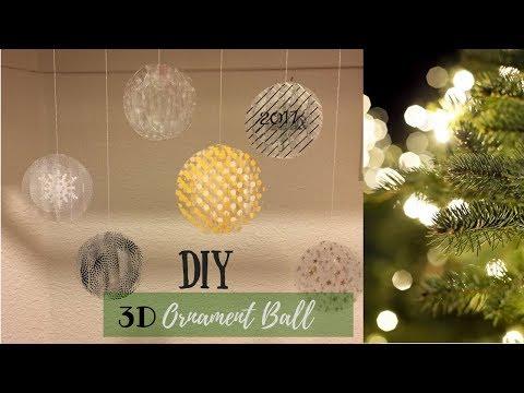 3D Ornament Ball | Cricut Design Space | Christmas | Gift Idea