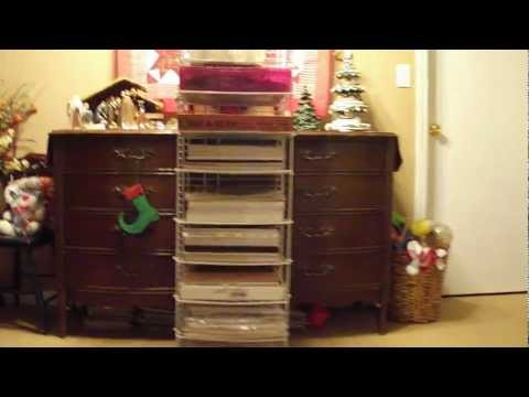 EASY CHEAP DIY Homemade Heavy Duty Scrapbook Paper/Pad Rack storage solution idea using Closetmaid