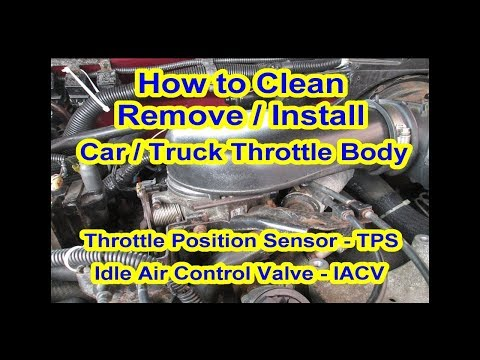 How to Clean Throttle Body 4.3L V6 Position Sensor TPS Idle Air Control Valve IACV GMC S10