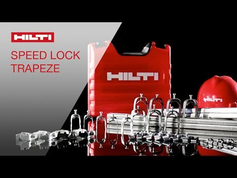 COMPARISON of Hilti's innovative Speed Lock Trapeze System going head-to-head with industry standard