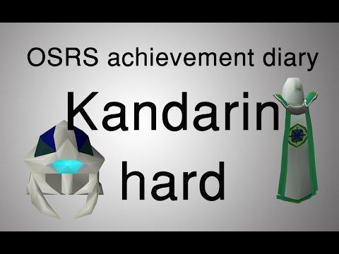 [OSRS] Kandarin hard diary tasks guide
