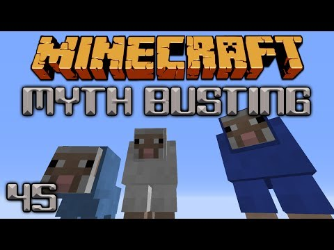 Sheep Breeding Colors [Minecraft Myth Busting 45]