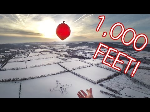 Dropping Water Balloons From 1,000 Feet - FAIL