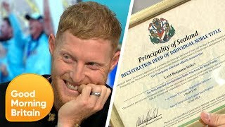 GMB Make Cricketer Ben Stokes an Official Lord | Good Morning Britain