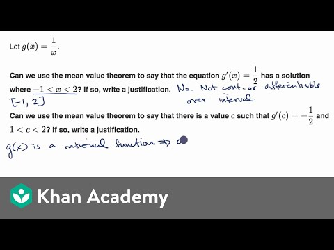 Justifying the mean value theorem for a function defined by an equation