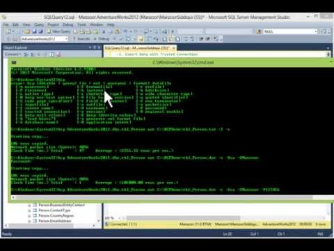 Bulk Copy Program (BCP) Utility to Import and Export Data in SQL Server [HD]