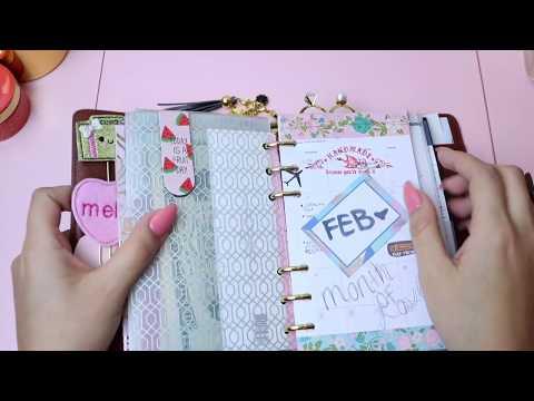 Louis Vuitton MM Agenda + Wallet Setup [FEB. Planner Secretz]