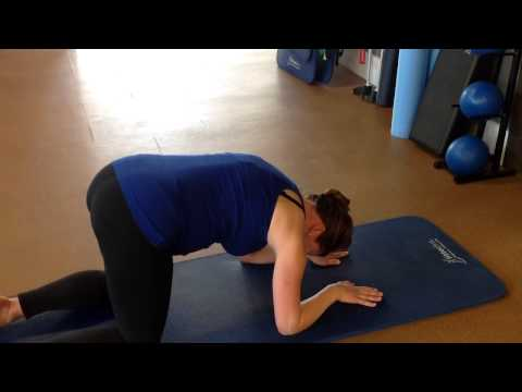 Pregnancy Upper Back Stretching