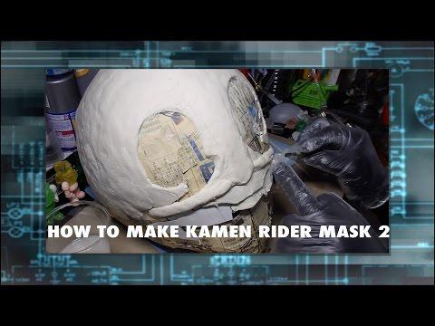 How to make kamen rider mask 2 仮面ライダーのマスクの作り方 2