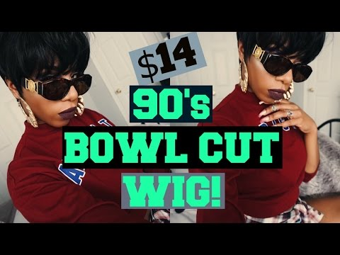 90's MUSHROOM BOWL HAIRCUT VIBES $14 OUTRE ACACIA WIG!