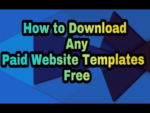 How to Download Any Paid Website Template Free