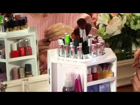 Tabletop Spinning Cosmetic Organizer by Lori Greiner- Item # H164200