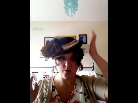 Altered Full Size Edwardian Style Hat