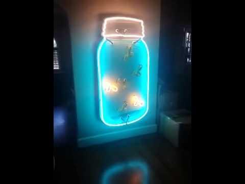 Fireflies in a Mason jar