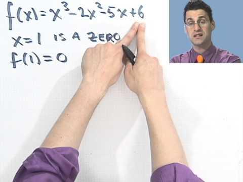 Factoring a Polynomial Given a Zero