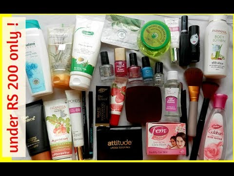 BEST makeup & skin care products UNDER RS 200   cheapest & Affordable products in INDIA   HINDI  