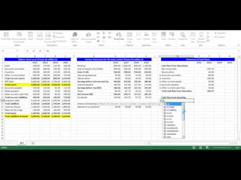 Statement of Cash Flows using Excel