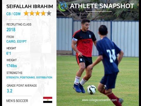 Seif Ibrahim, CB/CDM - 2018 Men's Soccer
