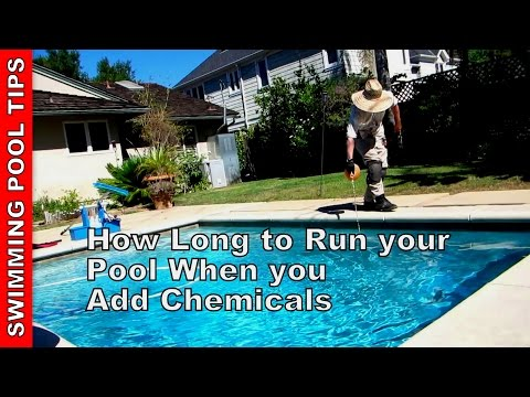 How Long to Run your Pool When you Add Chemicals & How to Set your Timer