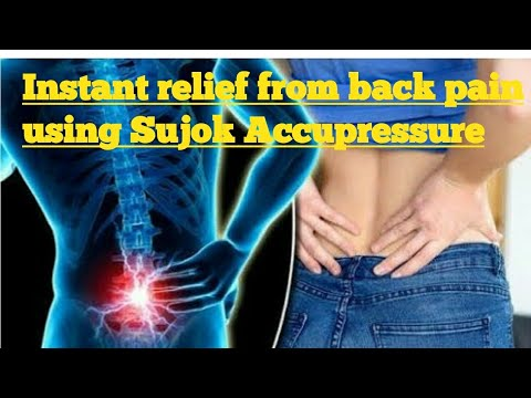 Simple and effective Instant relief from Back pain using Sujok Acupressure Self help treatment