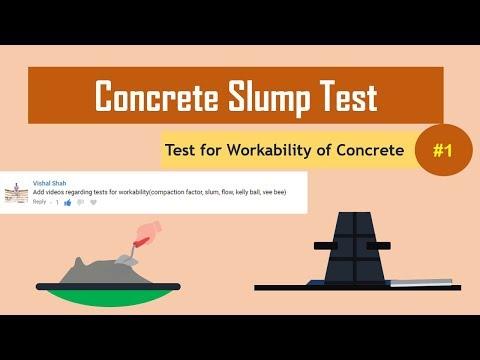 Concrete Slump Test || Test for Workability of Concrete#1
