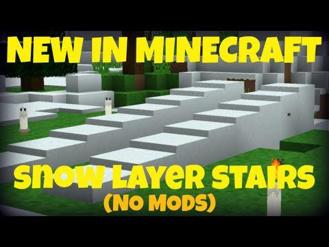 [1.6.4] Snow Layer Stairs (No Mods)