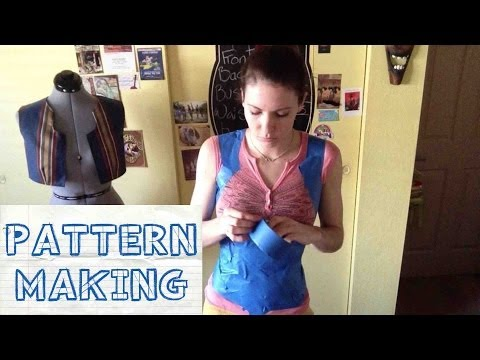 How to make a Custom Corset Pattern -- By Taping Your Body
